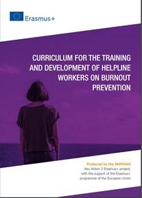 Imagem de capa de publicação Curriculum for Helpline Workers on Burnout Prevention